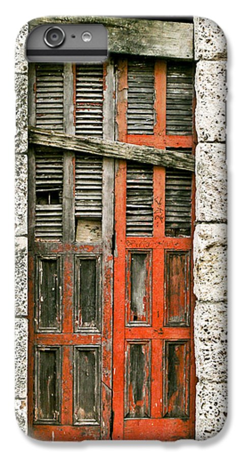 Door IPhone 6 Plus Case featuring the photograph Red Door by Douglas Barnett