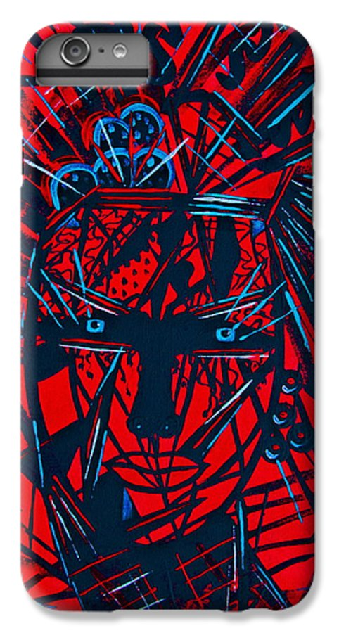 Abstract IPhone 6 Plus Case featuring the painting Red Exotica by Natalie Holland