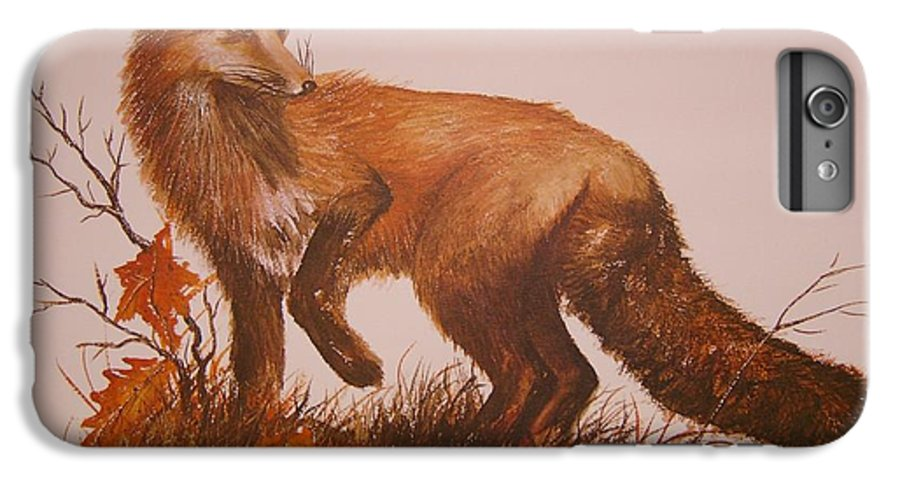 Nature IPhone 6 Plus Case featuring the painting Red Fox by Ben Kiger