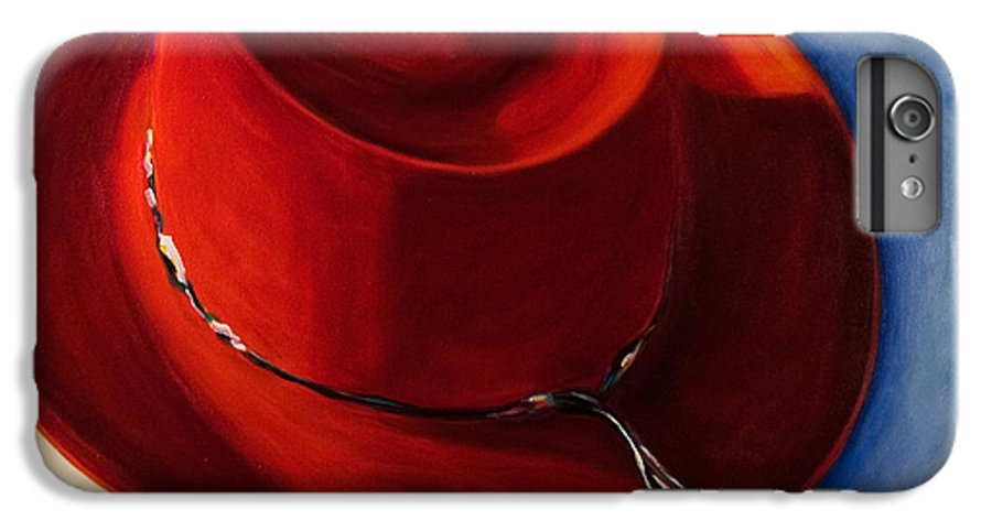 Red Hat IPhone 6 Plus Case featuring the painting Red Hat by Shannon Grissom
