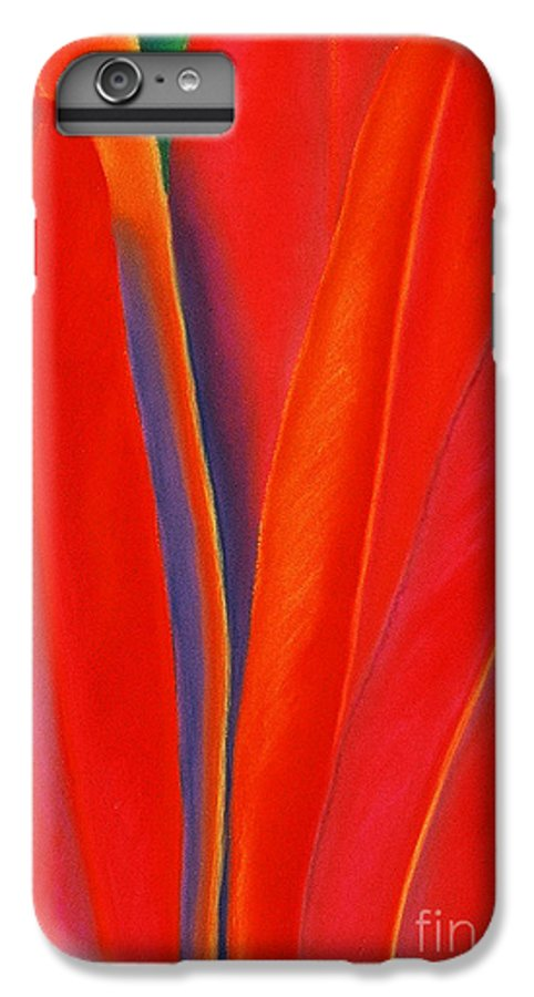 Red IPhone 6 Plus Case featuring the painting Red Petals by Lucy Arnold