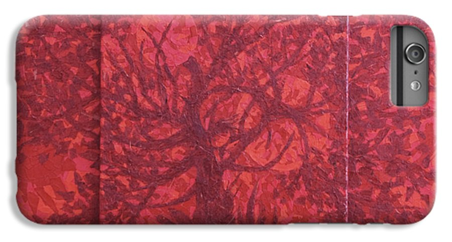 Red IPhone 6 Plus Case featuring the painting Red Planet by Judy Henninger