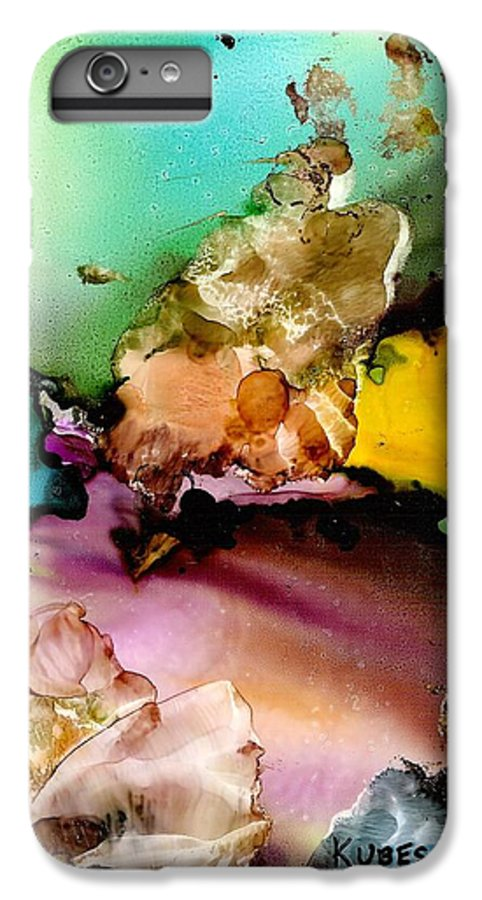 Reef IPhone 6 Plus Case featuring the mixed media Reef 3 by Susan Kubes