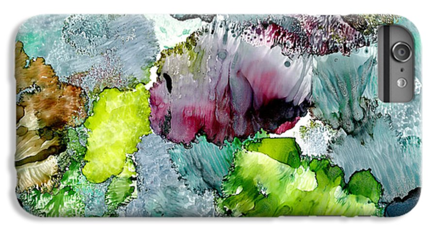 Reef IPhone 6 Plus Case featuring the painting Reef 4 by Susan Kubes