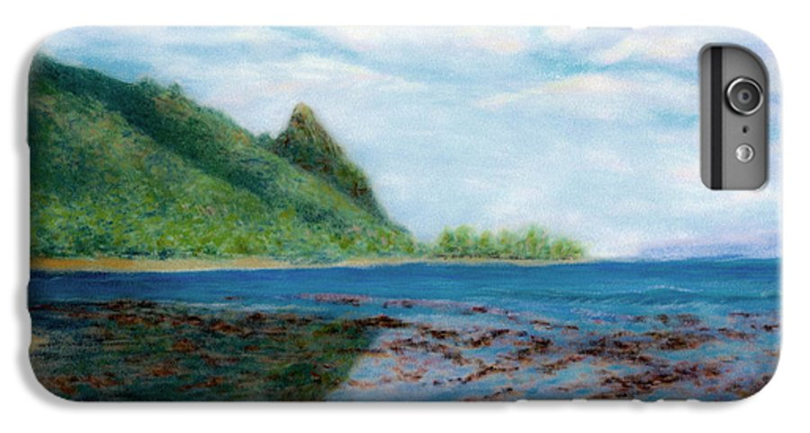 Rainbow Colors Pastel IPhone 6 Plus Case featuring the painting Reef Walk by Kenneth Grzesik