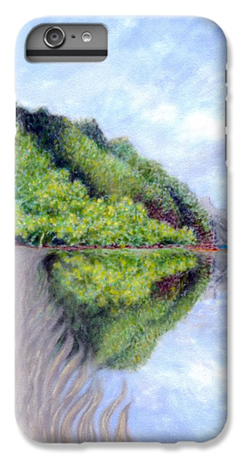 Coastal Decor IPhone 6 Plus Case featuring the painting Reflection by Kenneth Grzesik