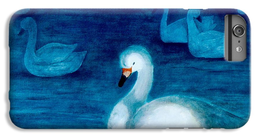 Duck IPhone 6 Plus Case featuring the painting Reflections 1 by Jun Jamosmos