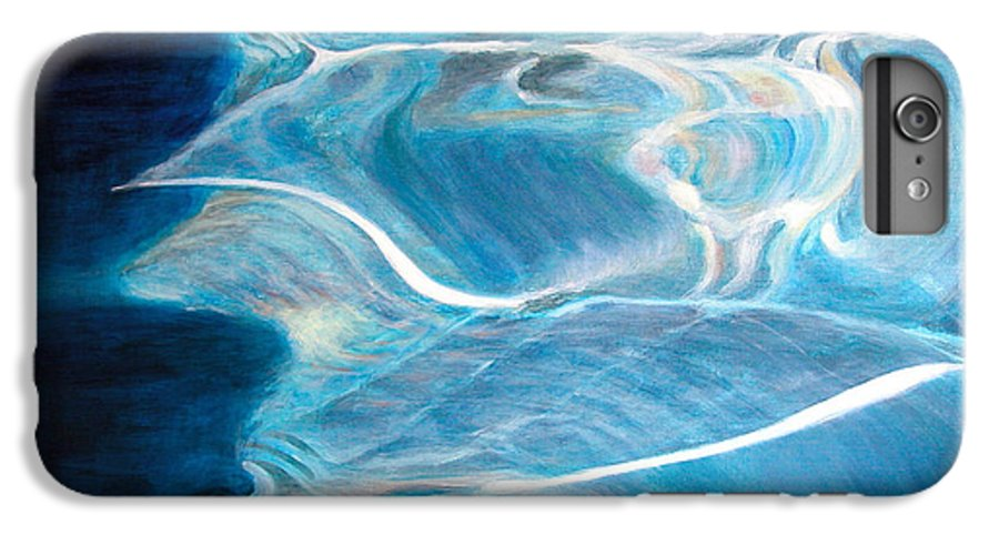Abstract IPhone 6 Plus Case featuring the painting Reflet by Muriel Dolemieux