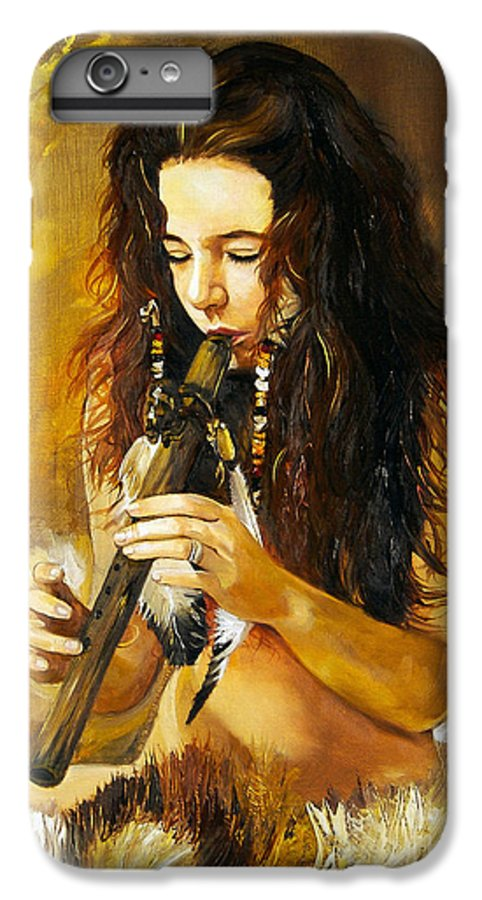 Woman IPhone 6 Plus Case featuring the painting Release by J W Baker