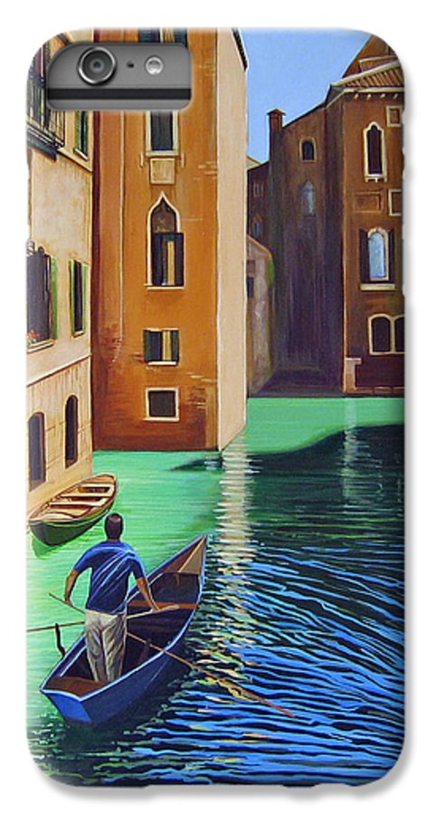 Canal In Venice IPhone 6 Plus Case featuring the painting Remembering Venice by Hunter Jay