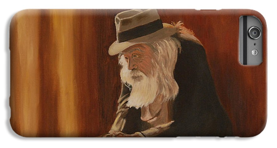 Man IPhone 6 Plus Case featuring the painting Remembrance by Quwatha Valentine