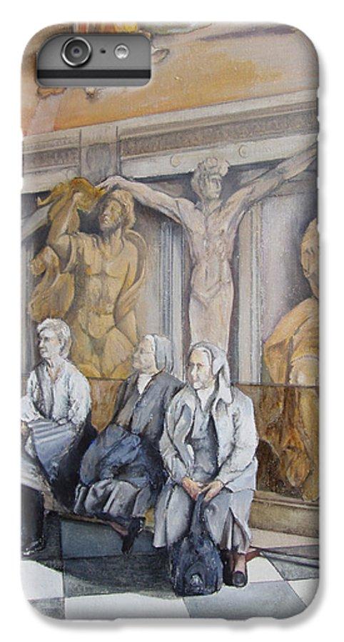 Vaticano IPhone 6 Plus Case featuring the painting Reposo En El Vaticano by Tomas Castano
