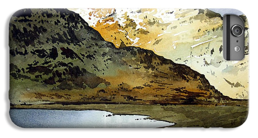 Watercolour Landscape Of Scottish Mountains IPhone 6 Plus Case featuring the painting Rest And Be Thankful Pass by Paul Dene Marlor