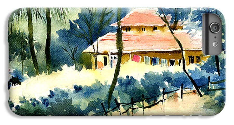 Landscape IPhone 6 Plus Case featuring the painting Rest House by Anil Nene