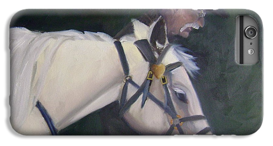 Old Man Horse... IPhone 6 Plus Case featuring the painting revised- Man's Best Friend by Toni Berry