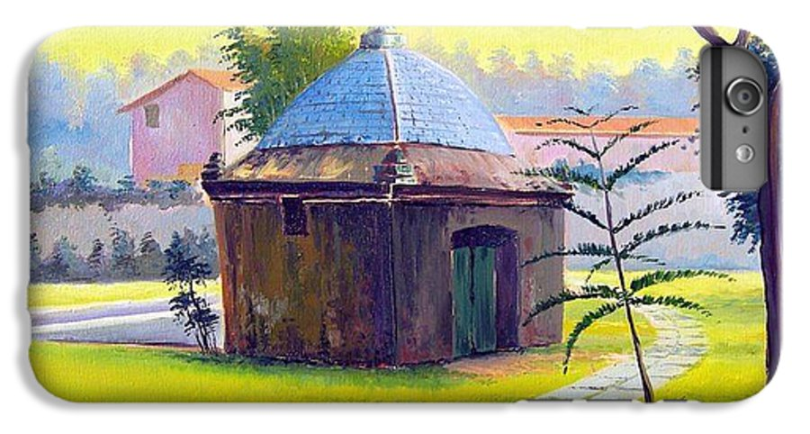 Cabo Frio IPhone 6 Plus Case featuring the painting Rio De Janeiro - Fonte Do Itajuru - Cabo Frio - Brasil - Green Day Series by Leomariano artist BRASIL