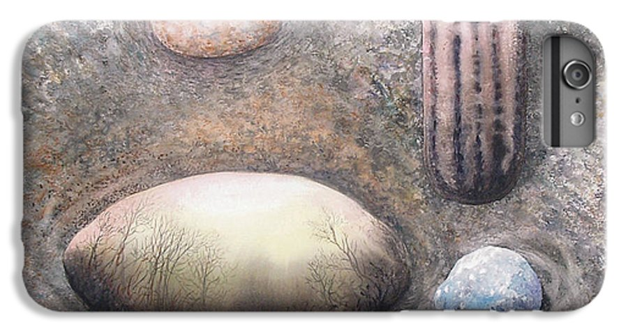 Abstract IPhone 6 Plus Case featuring the painting River Rock 1 by Valerie Meotti