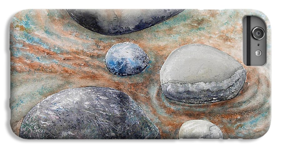 Abstract IPhone 6 Plus Case featuring the painting River Rock 2 by Valerie Meotti
