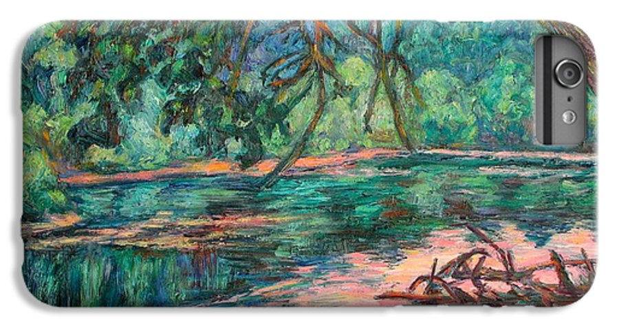 Riverview Park IPhone 6 Plus Case featuring the painting Riverview At Dusk by Kendall Kessler