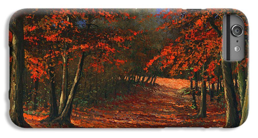Landscape IPhone 6 Plus Case featuring the painting Road To The Clearing by Frank Wilson