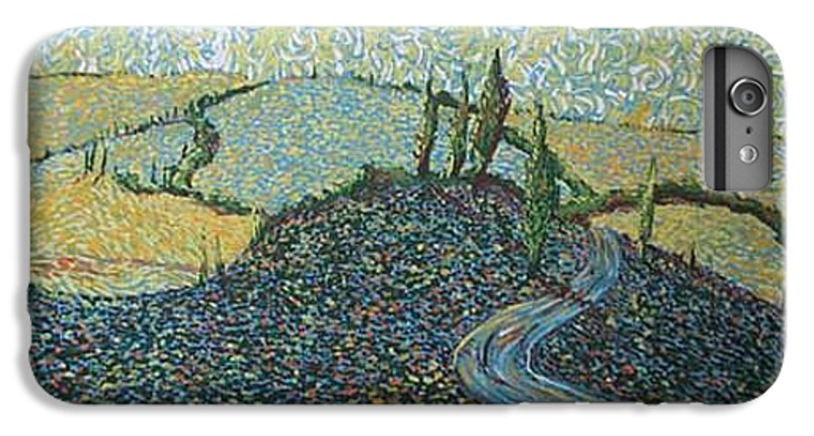 Landscape IPhone 6 Plus Case featuring the painting Road To Tuscany by Stefan Duncan