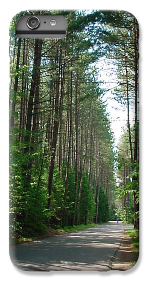 Fish Creek IPhone 6 Plus Case featuring the photograph Roadway At Fish Creek by Jerrold Carton
