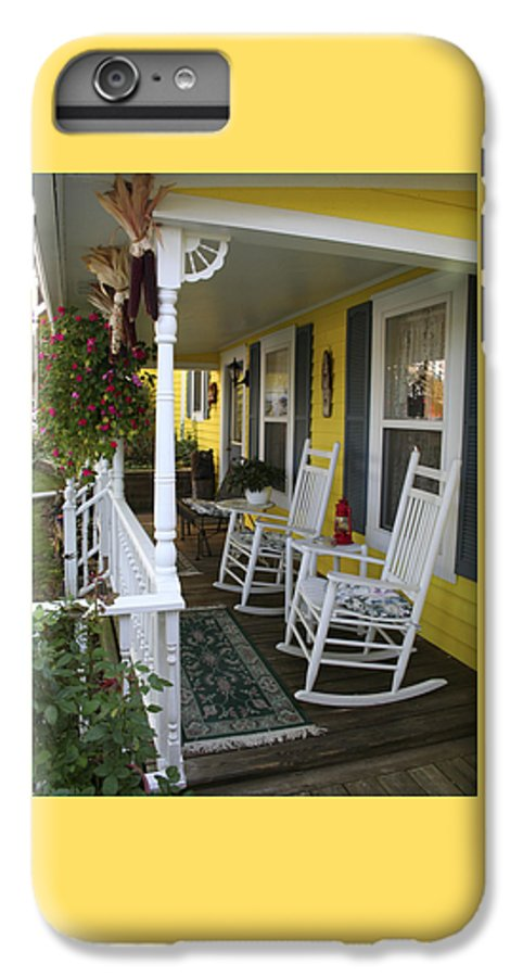 Rocking Chair IPhone 6 Plus Case featuring the photograph Rockers On The Porch by Margie Wildblood