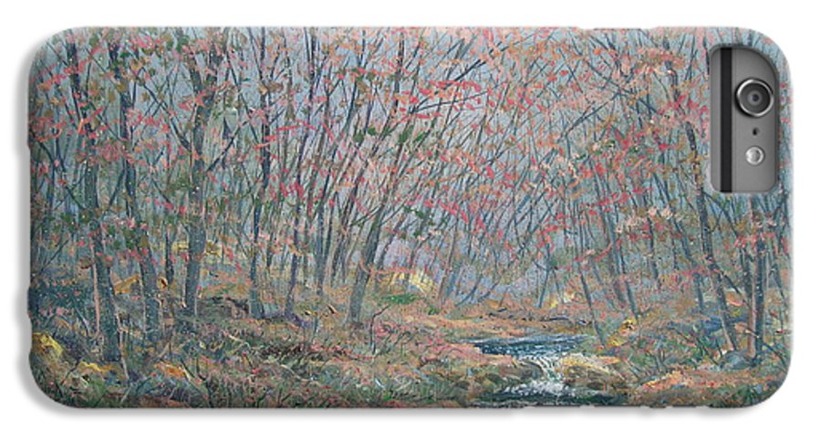 Painting IPhone 6 Plus Case featuring the painting Rocky Forest. by Leonard Holland