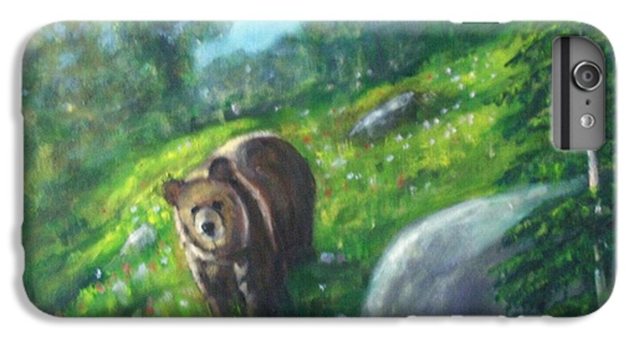 Wildlife IPhone 6 Plus Case featuring the painting Rocky Mountain Spring by Darla Joy Johnson