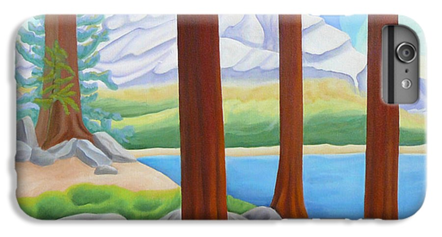 Landscape IPhone 6 Plus Case featuring the painting Rocky Mountain View 1 by Lynn Soehner