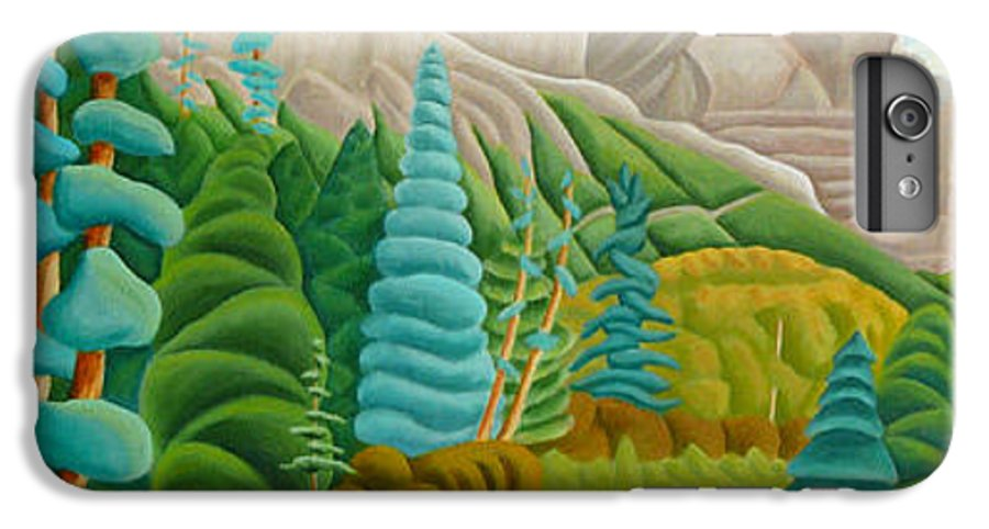 Landscape IPhone 6 Plus Case featuring the painting Rocky Mountain View 2 by Lynn Soehner
