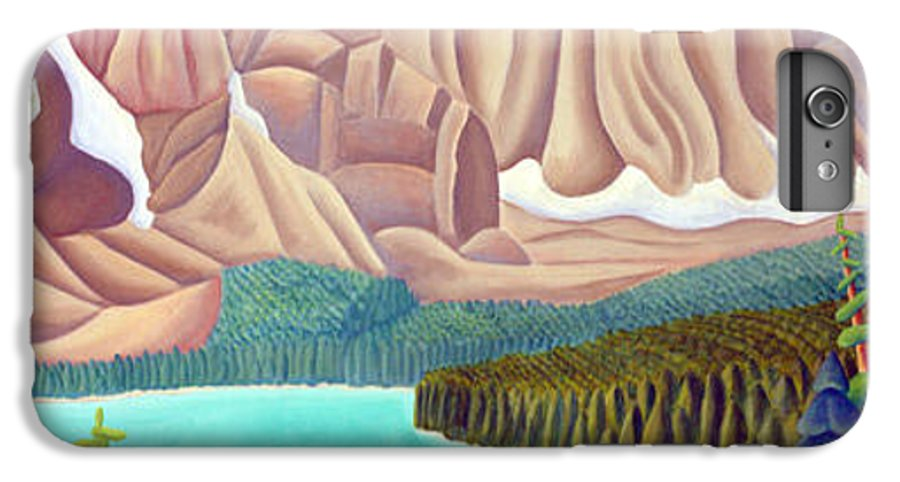 Landscape IPhone 6 Plus Case featuring the painting Rocky Mountain View 3 by Lynn Soehner