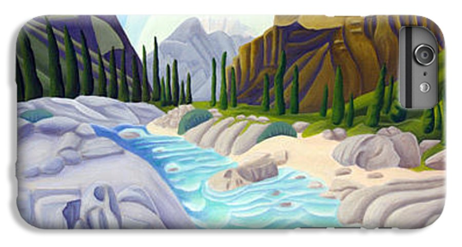 Landscape IPhone 6 Plus Case featuring the painting Rocky Mountain View 5 by Lynn Soehner
