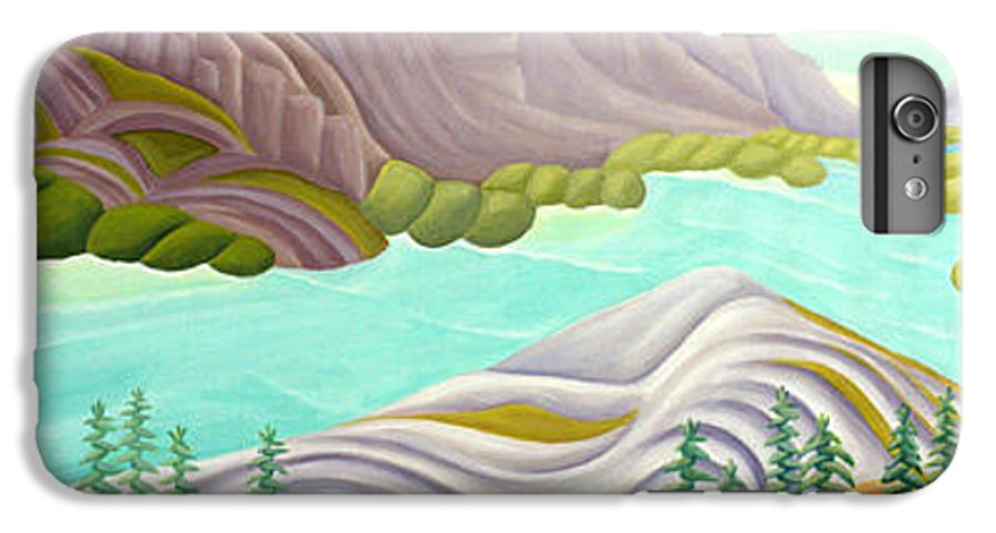 Landscape IPhone 6 Plus Case featuring the painting Rocky Mountain View 6 by Lynn Soehner