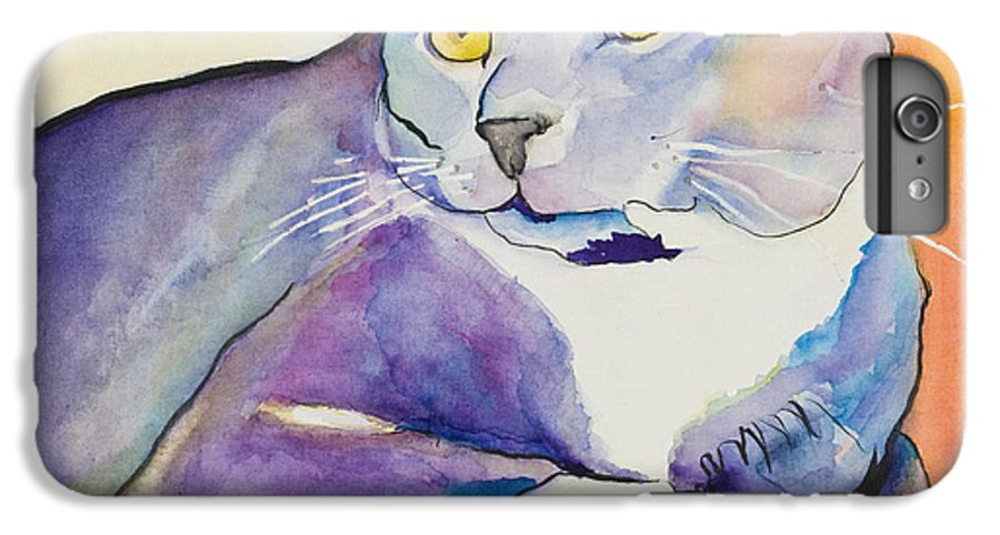 Pat Saunders-white IPhone 6 Plus Case featuring the painting Rocky by Pat Saunders-White