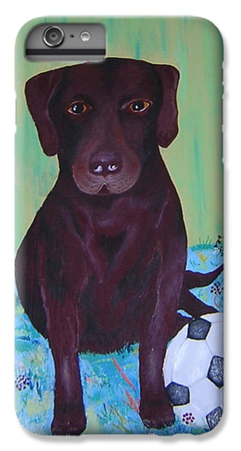 Dog IPhone 6 Plus Case featuring the painting Rocky by Valerie Josi