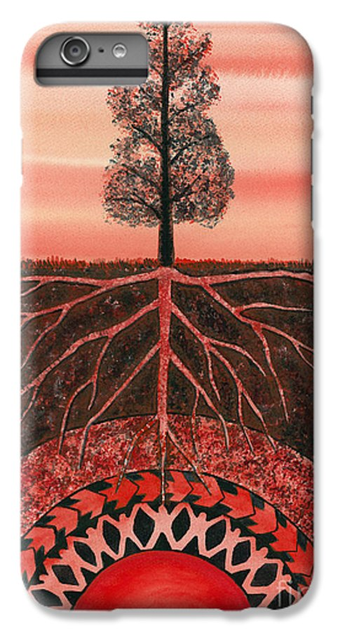 Chakra IPhone 6 Plus Case featuring the painting Root Chakra by Catherine G McElroy
