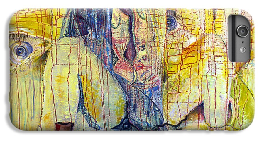 Portrait IPhone 6 Plus Case featuring the painting Roots by Peggy Blood