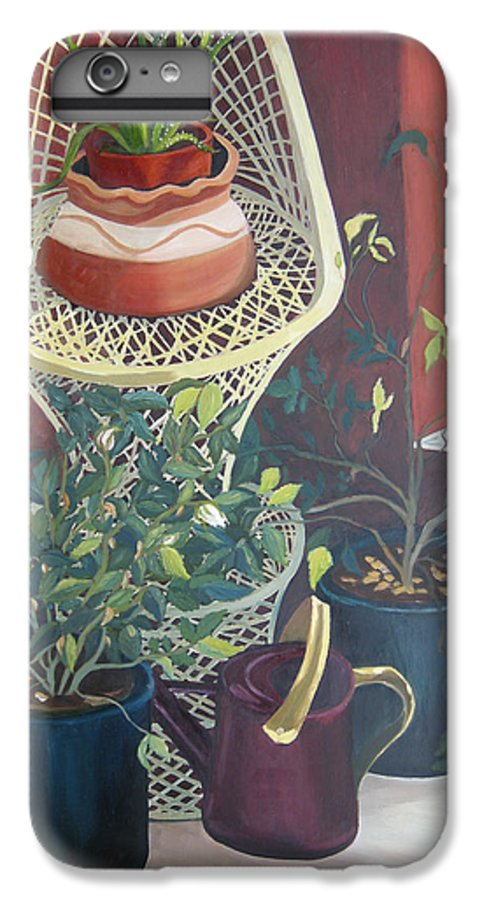 Still Life IPhone 6 Plus Case featuring the painting Rose Buds by Antoaneta Melnikova- Hillman