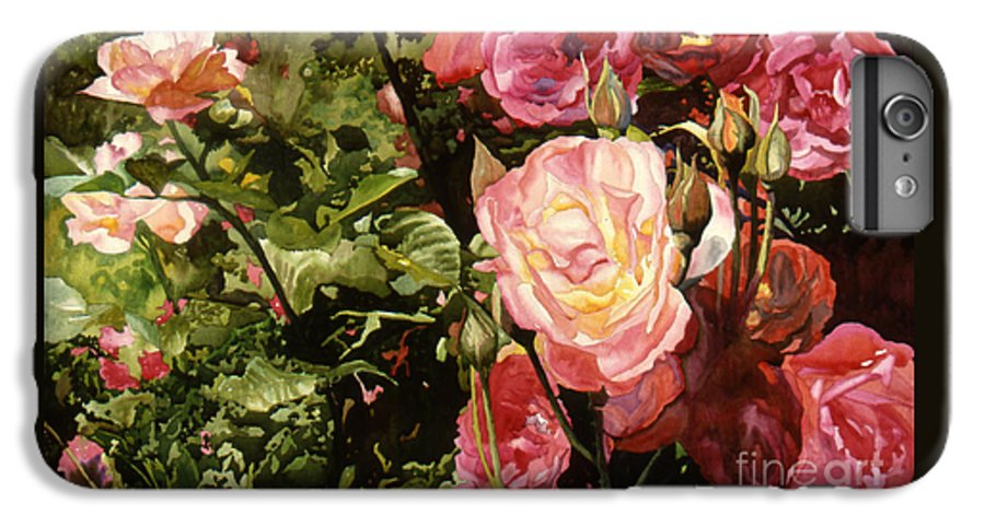 Watercolor IPhone 6 Plus Case featuring the painting Rose Garden by Teri Starkweather