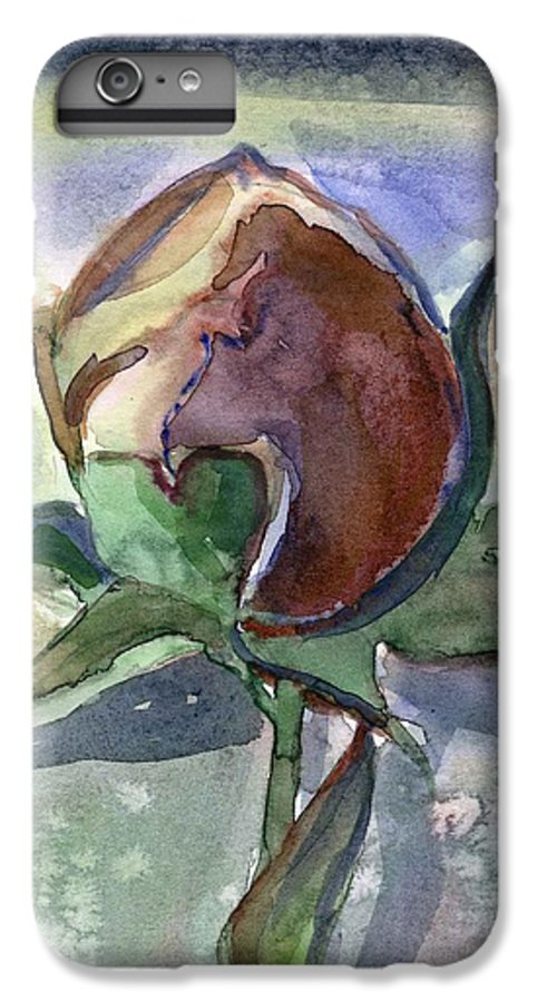 Rose IPhone 6 Plus Case featuring the painting Rose In The Snow by Mindy Newman