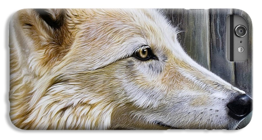 Wolves IPhone 6 Plus Case featuring the painting Rose by Sandi Baker