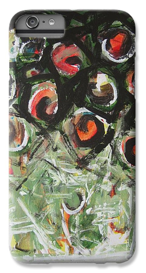 Abstract Painting IPhone 6 Plus Case featuring the painting Roses by Seon-Jeong Kim