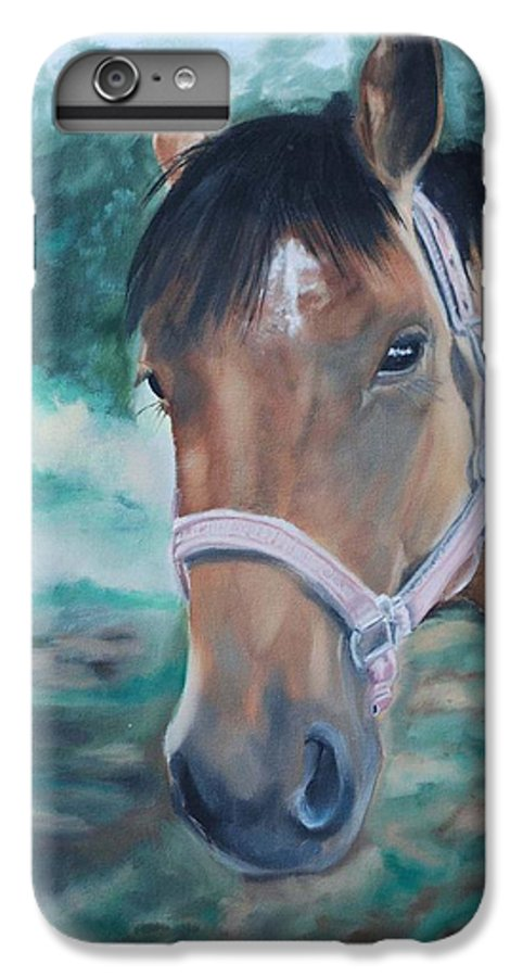 Horse IPhone 6 Plus Case featuring the painting Rosie by Margaret Fortunato