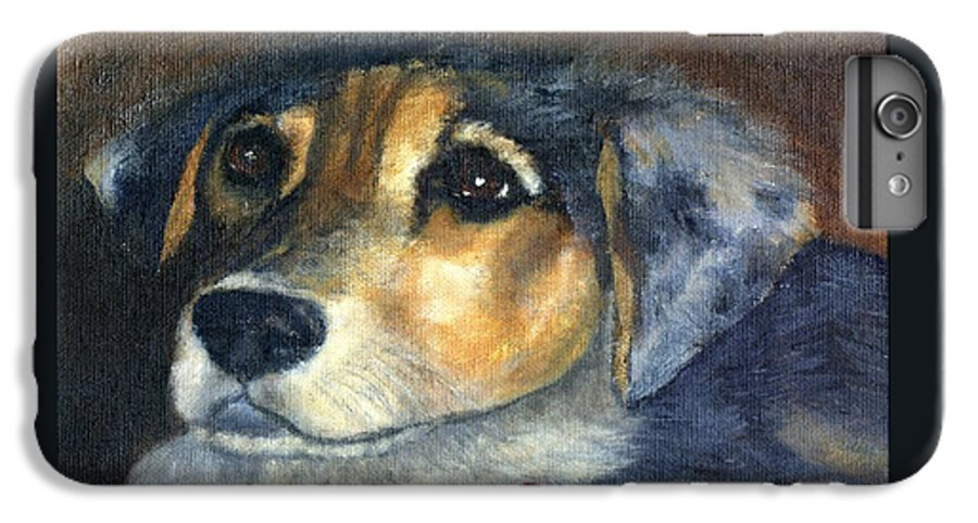 Dog IPhone 6 Plus Case featuring the painting Roxie by Gail Kirtz