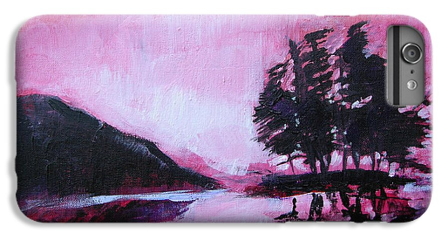 Ruby Dawn IPhone 6 Plus Case featuring the painting Ruby Dawn by Seth Weaver