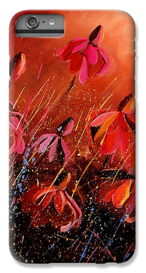 Poppies IPhone 6 Plus Case featuring the painting Rudbeckia's 45 by Pol Ledent