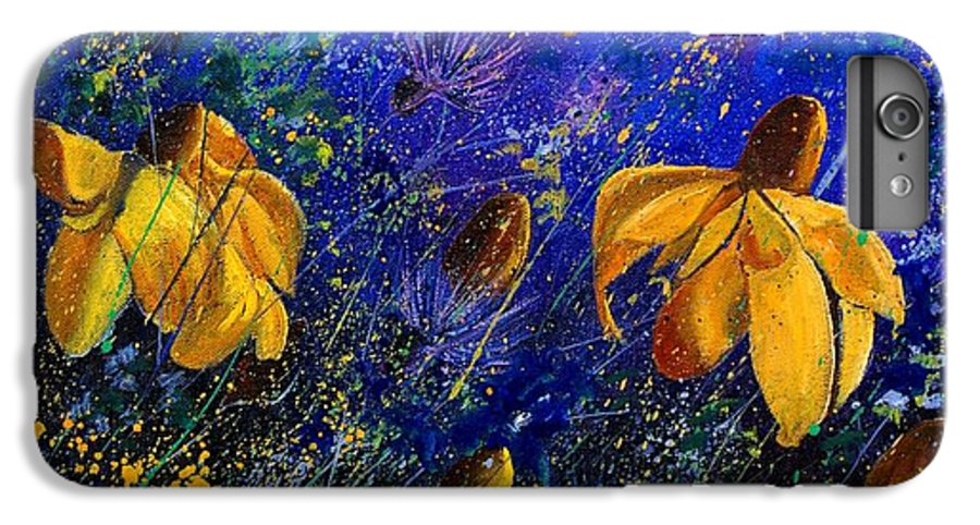 Poppies IPhone 6 Plus Case featuring the painting Rudbeckia's by Pol Ledent