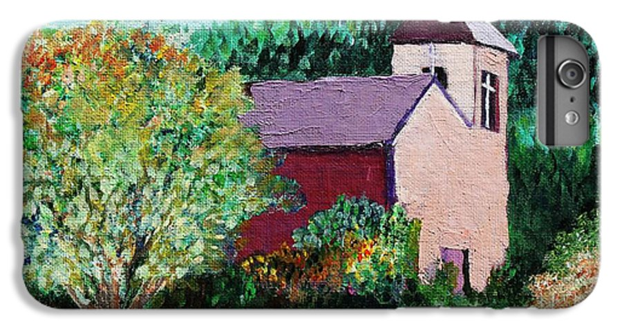 Church IPhone 6 Plus Case featuring the painting Ruidoso by Melinda Etzold