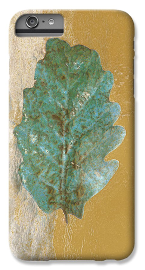 Leaves IPhone 6 Plus Case featuring the photograph Rustic Leaf by Linda Sannuti
